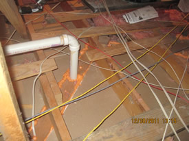 attic floor foam air barrier