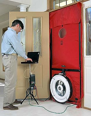 The tighter the building (e.g. fewer holes) the less air is needed from the blower door fan to create a change in building pressure. & Perkins Inc. - The technology we used to rate homes