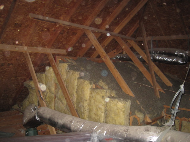 Insulation company that removes destroyed insulation